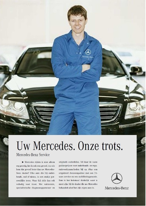 advertentie Mercedes Benz - copywriter Bas Holzhaus